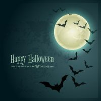 Halloween Bats Background Free Vector by vecree