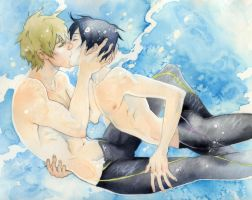 kiss,kiss, fall in pool by OlayaValle