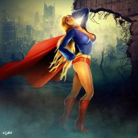 EVE OF DESTRUCTION - SUPERGIRL by isikol