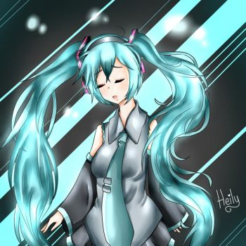 Hatsune Miku - By : Heily-Green by Heily-Green