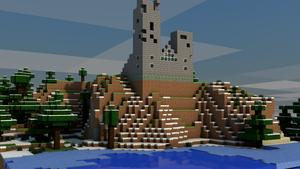 Minecraft 3d world render by MHalse