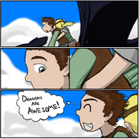 Hiccup's Thoughts While Riding by Psywinder