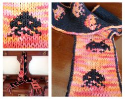 Space Invaders scarf by Umulu