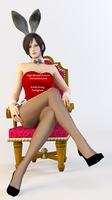 Ada Wong Easter Render Bunny Outfit by Ada-Momiji-Forever