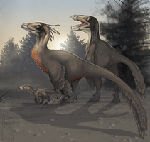 Deinonychus by RedTallin