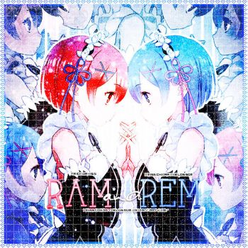Ram and Rem by xMissCherryxBlossom