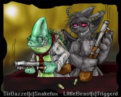 Trigger Happy by Snakefox by All-Crazy-Reptiles