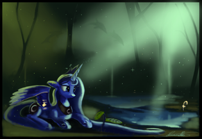 Beyond the veil -Luna's dream by Cosmicscribbles
