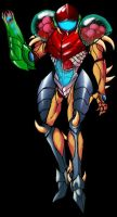 Samus Aran Larva Suit by Lee-Ham