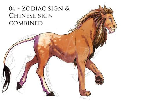 Day04 - zodiac sign and chinese sign combined by Rakjah