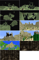 Minecraft Builds. Biome, Castle, Deep Pillars. by lunchbox1234