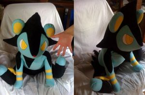 Pokedex sized Luxio plush by LRK-Creations