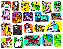 FREE Critterz adoptables CLOSED by DaisyWarriorCats