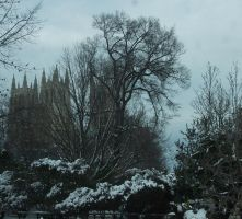 National Cathedral in Snow by RAScott