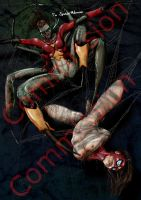 Spider-Girl vs Spider-Woman by MarvTMartian