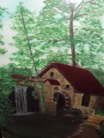 My Mothers Art - Natures Cabin by Drake09