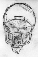 Zombie Football Player by GG-lover