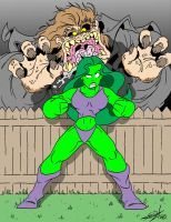 She-Hulk vs. Mister Hyde by JayFosgitt
