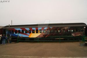 Painted Train by christiline88