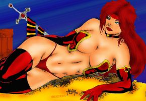 Alisson Rodrigues Red Monika Color by winchester01