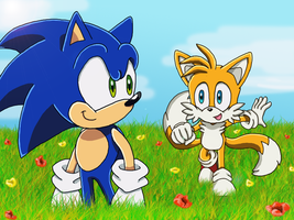 Sonic and Tails by xJestino