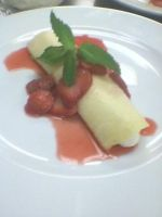 Strawberry Crepe Suzette by Bake-a-saur