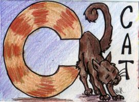 C is for Cat by halfbreed