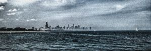 Waterscape with Disappearing Skyline by AugenStudios