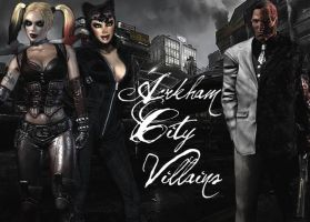 Villains of Arkham by Quinnzy