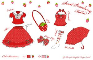 Sweet Strawberry Polka Design by Mezzochan