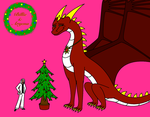 Christmas Gift for VixenDra - Billie and Aryena by MightyDragonEmperor