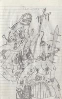 The Starving 1 concept sketch 2013 by WallowBlacklake