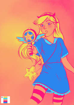 Palette Challenge Day 13: Star from Mewni by omhira