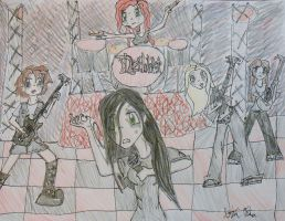 The Female Dethklok (Manga Form) 2 by gPrincessofDarknessf