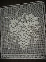 Crochet window curtain grapes by eva-crochet