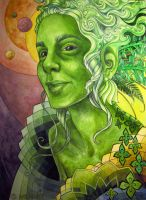 Green Lady by Sarakatt