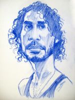Sayid caricature by soulbleeding