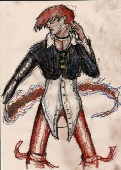 Iori Yagami coloured by Wagner1988
