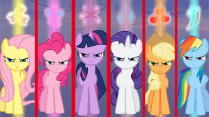 Wallpaper Mane6 very angry on you by Barrfind