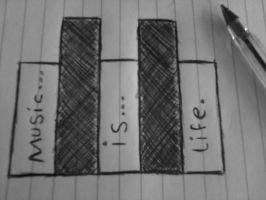 music is life by zombiemarshmellow