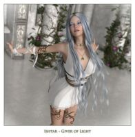 Ishtar ~ Giver of Light by karibous-boutique