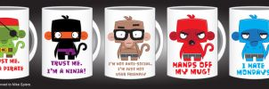 monkey mugs by spiers84
