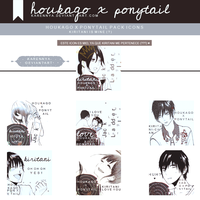 [Pack Icons] Houkago x Ponytail by KarenNya