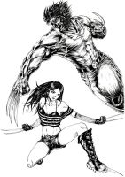 Wolverine and X-23 by HungDK