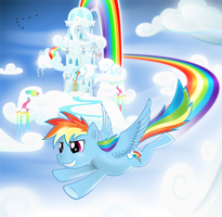 Rainbowdash Light Flight by Marnodor