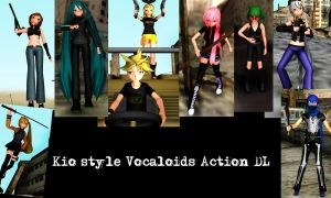 kio style vocaloids action DL by Sefina-NZ