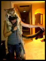 Cougar Headdress Again by NaturePunk