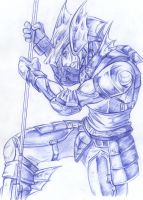 The Dragoon - ballpoint by Dalehan