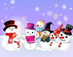 Free Vector Snowman 02 by VectorDownload
