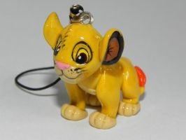 Polymer clay Simba by Pandannabelle